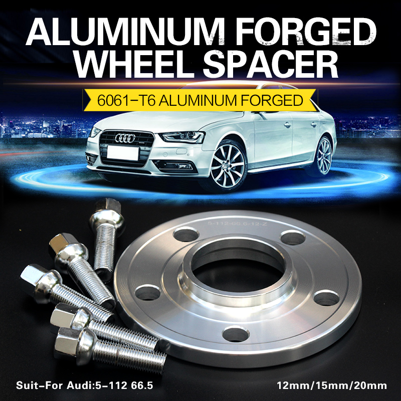 2/4Pieces 12/15mm 5x112 66.5 Wheel Spacer For A4/A5/A6/A7/A8/S3/S4/S5/S6/S7/Q3/Q5/RS4/RS5/RS6 Q7 Wheel Spacers Adapter