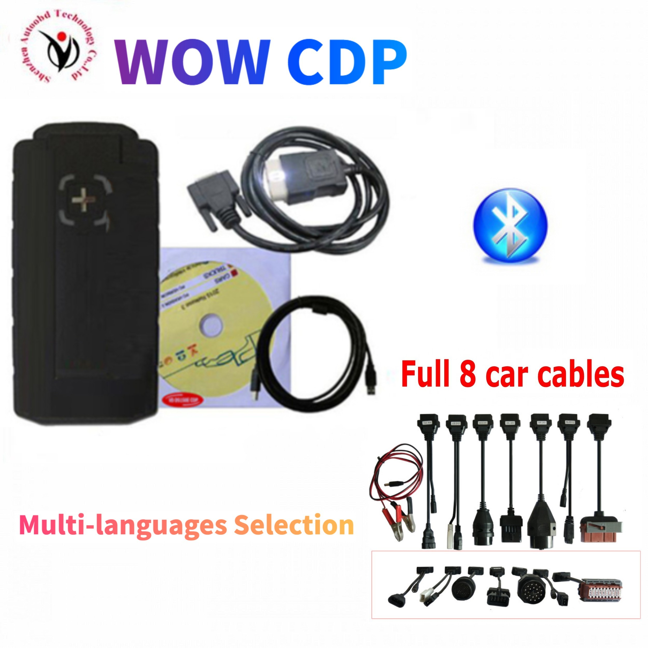 2020 Latest WOW CDP vd ds150e cdp pro plus with bluetooth v5 00812 2016 R0 keygen on cd for delphis obd2 car truck scanner tool