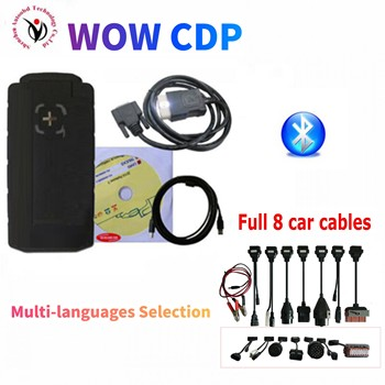 цена на 2020 Latest WOW CDP vd ds150e cdp pro plus with bluetooth v5.00812/2016.R0 keygen on cd for delphis obd2 car truck scanner tool