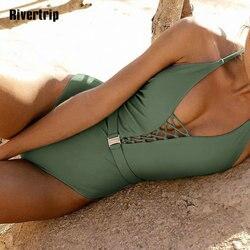 Одноцветный купальный костюм с бретельками, модель 2020 года, сексуальный купальник для женщин, с поясом, с высокой посадкой, пляжная одежда, u-... 4