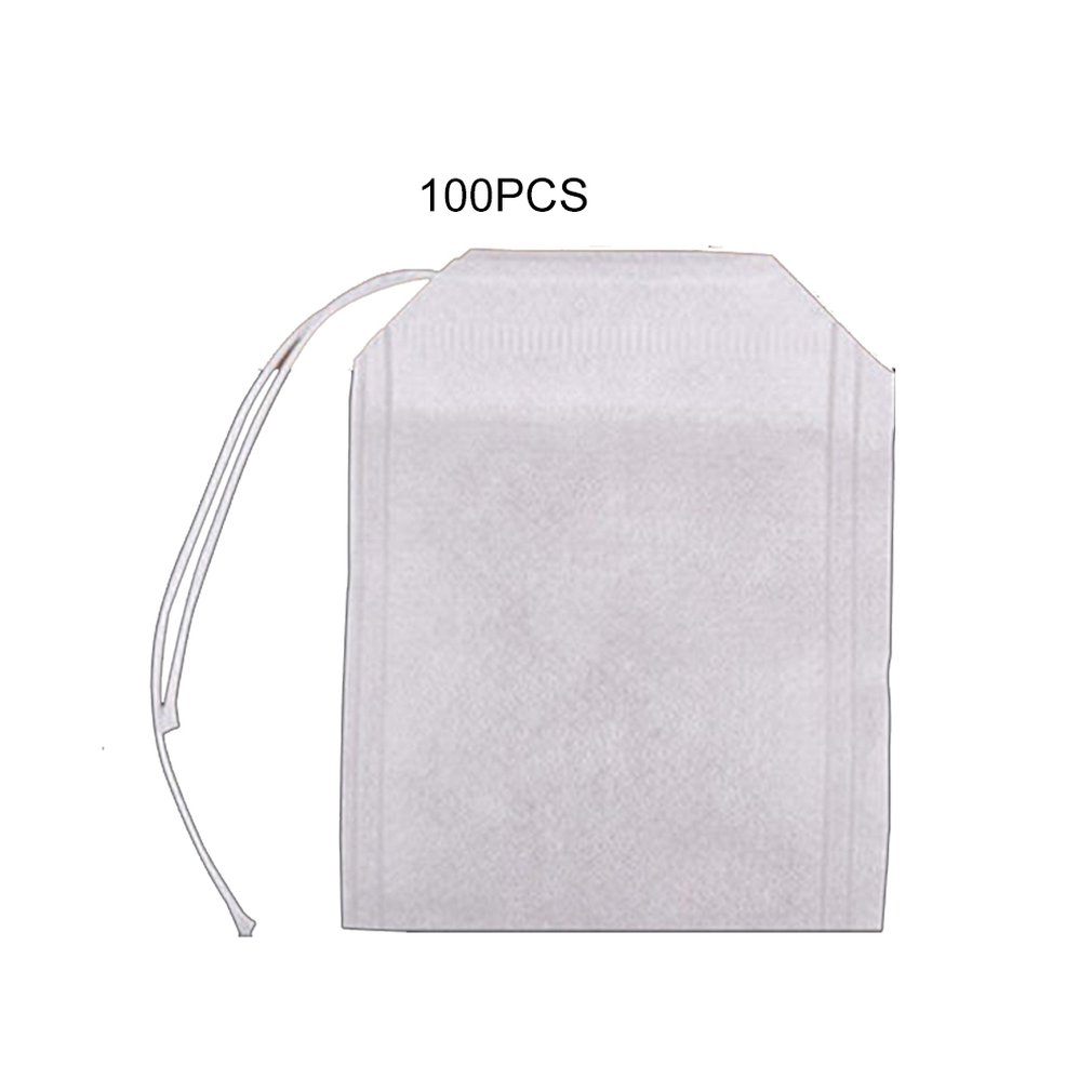 50/100pcs Disposable Tea Filter Bags Tea Infusers Empty Drawstring Seal Filter Tea Bags Drawstring Herb Loose Tea Bag