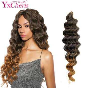 YxCheris Crochet Hair Braid Deep Twist Premium Wave Synthetic Extension 18 inch 80 g Braiding Bulk - discount item  34% OFF Synthetic Hair