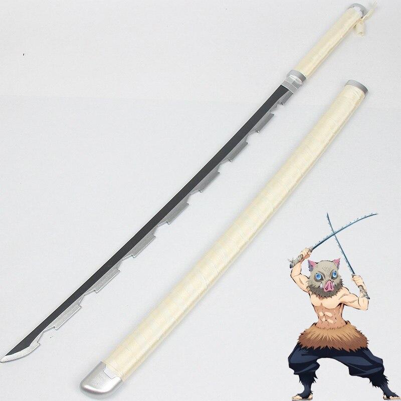 Hashibira Inosuke Cosplay Sword Demon Slayer Kimetsu No Yaiba Costume Weapons Prop Kimetsu No Yaiba Hashibira Inosuke Cos Wig