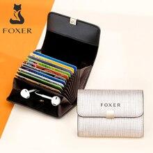 FOXERยี่ห้อผู้หญิงผลิตภัณฑ์Miniกระเป๋าสตางค์ผู้ถือบัตรหญิงกระเป๋าสตางค์เหรียญแพ็คเก็ตLady Miniขนาดใหญ่สล็อต