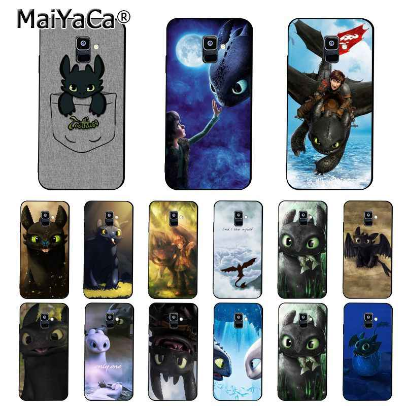 MaiYaCa toothless How To Train Your Dragon   Phone Case For Samsung Galaxy A7 A50 A70 A40 A20 A30 A8 A6 A8 Plus A9 2018