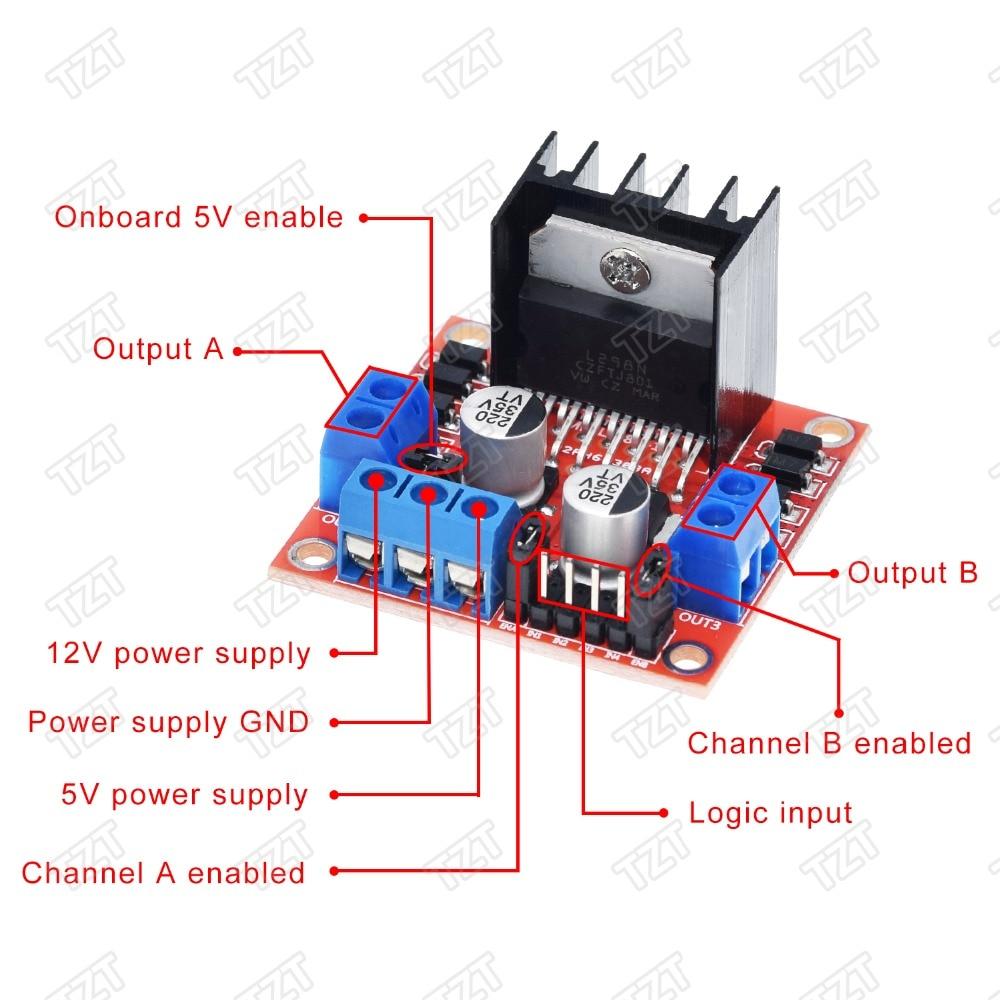 New L298N DC Stepper Motor Driver Module Dual H Bridge Control for Arduino