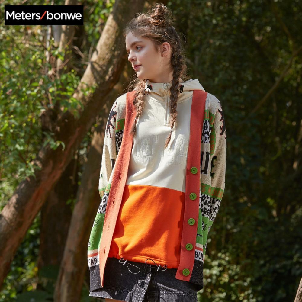 Metersbonwe Bambi Joint Name Cardigan Sweater Women 2020 Spring New Simple Loose Fashion Leisure Childlike Cardigan For Female