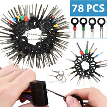 78PCS Terminal Ejector Kit Tools Wire Connector Extractor Automotive Terminal Wire Terminal Removal Tool Car Pin Kit