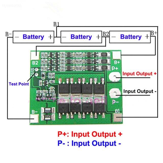 3S 25A 12V BMS 18650 Li-Ion Lithium-Batterie PCM 3S 18650 Lipo Lithium-Ladegerät Batterie BMS Schutz platine Mit Balance