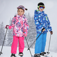 2021 New Ski Suit Kids Winter Snowboard Clothes Warm Waterproof Outdoor Snow Jackets + Pants for Girls and Boys