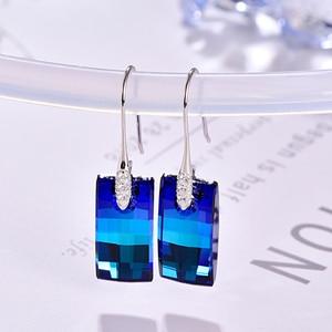 Image 3 - Malanda boucles doreilles cristaux de Swarovski, pendentifs urbains pour femmes, en argent Sterling, Piercing, pendentifs, mode