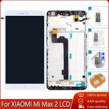 "100% Original 6.44 ""LCD + กรอบสำหรับXiaomi Mi MAX 2 จอแสดงผลLCDหน้าจอสัมผัสแท่นพิมพ์สำหรับMi MAX2 เปลี่ยนเครื่องมือฟรี"