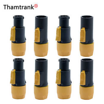 10Pcs High quality 20A Waterproof Powercon LED Large Screen Power Plug PA66 Flame-retardant Industrial Power connector OUT/IN