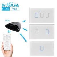 Broadlink TC2 WiFi Schakelaar Touch Panel ONS AU Standaard Muur Lichtschakelaar APP Controle Via Broadlink RM Pro Smart Home automatisering