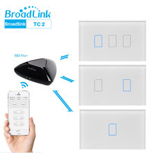 Broadlink TC2 WiFi Switch Touch Panel US AU Standard Wall Light APP Control Via RM Pro Smart Home Automation