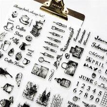 1pc Transparent silikon dichtung retro stempel Flugzeug Turm Gebäude klar briefmarken Büro Liefert briefmarken DIY