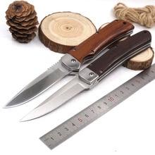 Складной карманный охотничий нож, тактический нож для выживания, боевой, походный, универсальный, для повседневного использования, для улицы, нож для защиты, с деревянной ручкой, многофункциональные инструменты