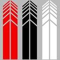 Автомобильная наклейка 2 шт зеркало заднего вида боковая наклейка полоса виниловая тележка аксессуары для кузова автомобиля черный/красны...