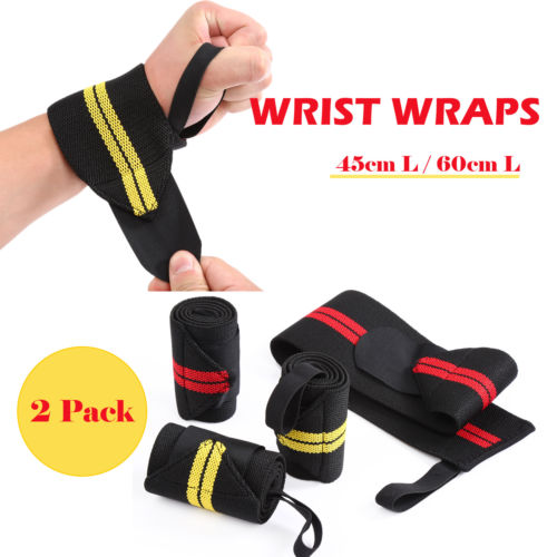 2 Pairs Best for Training Wrist Supports Weight /& Strength Training 18 inch Pair Fitness Wrist Support Braces for Men /& Women ESPORT Wrist Wraps