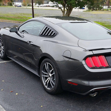 1 Pair Black Side Window 1/4 Scoop Louver Cover Panel For Ford Mustang 2015-2018