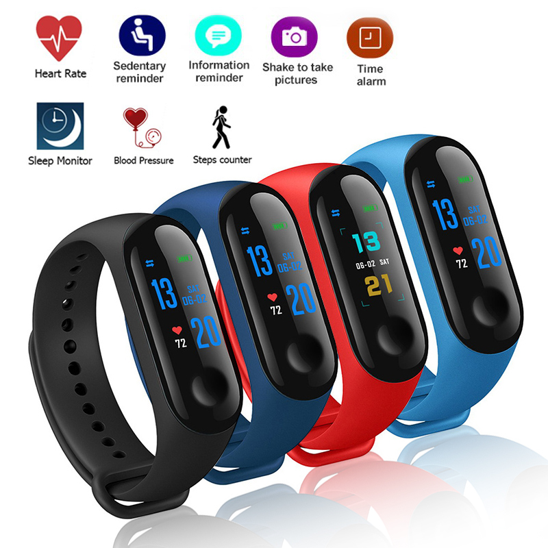 Smart Bluetooth Bracelet Sports Fitness tracker Watch Smartband Blood Pressure Heart Rate Monitor Wristband Men For Android iOS