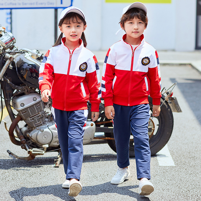 2019 Spring And Autumn Primary School STUDENT'S Mixed Colors School Uniform Kindergarten Suit Set Teachers Serving New Style Cus