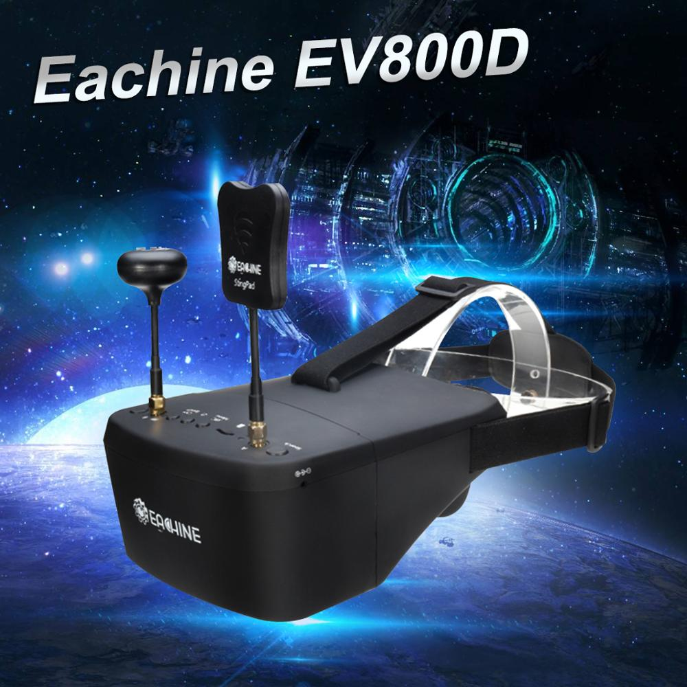Clearance Price Eachine EV800D 5.8G 40CH 5 Inch 800*480 Video Headset HD DVR Diversity FPV Goggles With Battery For RC Drone Parts & Accessories  - AliExpress