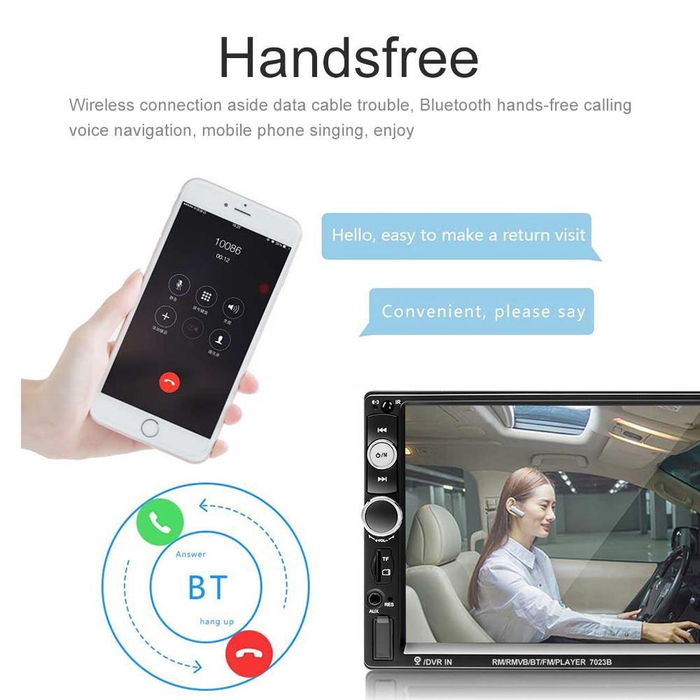Podofo 7 ''Auto radio 2 din Digital Display Touch Screen Bluetooth Autoradio MP5 Stereo Multimedia Player MP5