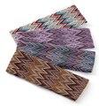 Geebro в богемном стиле, в полоску Женская повязка на голову ручной работы на открытом воздухе, лента для волос; Модные разноцветные волосы акс...