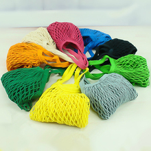 Reusable Fruit Shopping Green Bag String Grocery Shopper Tote Cotton woven net bag pocket  Supermarket