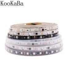 Tira programável 30/5050 pixels/leds/m dos pixéis do diodo emissor de luz de dc12v ws2811 48/60, ws2811ic rgb smd branco/preto pwb conduziu a luz de tira