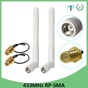 433mhz radio antenna 3dbi magnetic base extension cable 1 5m rp sma male rf ipx u fl switch rp sma female pigtail cable 15cm 2pcs 433Mhz Antenna 3dbi GSM 433 mhz RP-SMA Connector Rubber 433m Lorawan antenna+ IPX to SMA Male Extension Cord Pigtail Cable