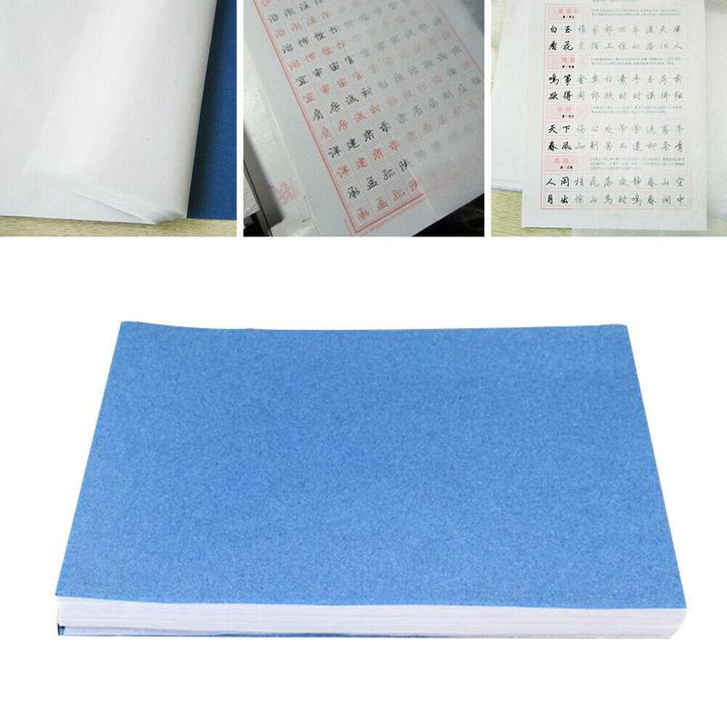 100 sheet/set Translucent Tracing Paper Writing Copying Drawing Sheet Calligraphy Craft Scrapbook Paper Stationery  27*19cm