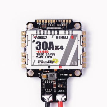 RCtown muy bien F4S 30A Blheli_S Dshot 4 en 1 ESC AIO F4 OSD controlador de vuelo w/ BEC Sensor de corriente