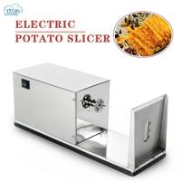 Electric Potato Spiral Cutter Machine Commercial Automatic Tornado Potato Slicer Tool Potato Twiste vegetable Spiralizer Machine