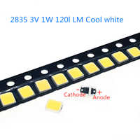 50-1000pcs High Brightness 2835 125Lm SMD LED Chip 1W 3V 3000k 4000K 6000K 9500 White LED Surface Mount PCB Light Emitting Diode