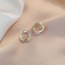 MSWEIJIA 2020 New Fashion Simple Small Ear Stud Women High Sense Circle Earings KPOPJewelry