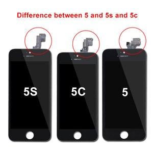 Image 2 - AAA kalite LCD ekran iPhone 6 6 artı 5 5S 5C 5 LCD ekran dokunmatik ekran Digitizer meclisi Pantalla siyah/beyaz Ecran