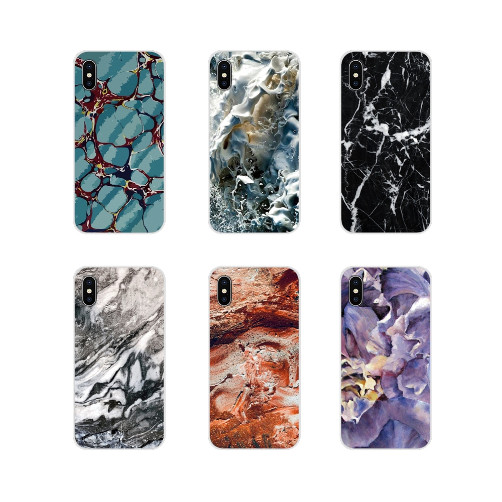 For Huawei Mate Honor 5X 6X 7 7A 7C 8 9 10 8C 8X 20 30 Lite Pro Accessories Phone Cases Covers White Black Marble Stone image