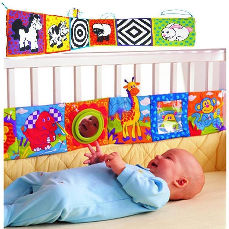 Newbron Baby Bed Bumper Crib Protector Mobile Cloth Book Soft Educational Cot Book Toys Baby Bedding Sets Room Decor Crib Bumper