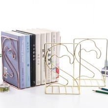 Iron Wire Metal Bookends Nordic Style Decorative Book Holder Stand Rack For Home Office Library School Decoration Storage New