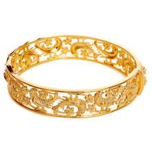 DOTSHE Trendy Plated 24K Gold Multi shape Bracelet Curb Cuban Chain Gold Color Bracelets Bangle For Women Jewelry Gifts(China)