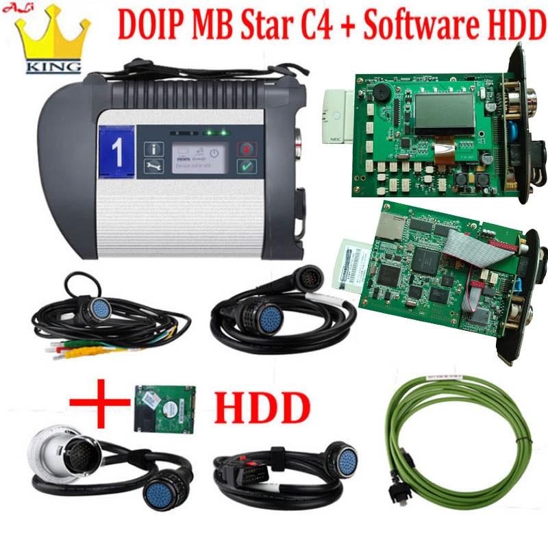 Função MB Ferramenta de Diagnóstico MB estrela c4 mais DOIP C4 V2020 SSD HDD c4 SD conectar wi-fi com Frete DTS monaco/Vediamo para Carros/Caminhões