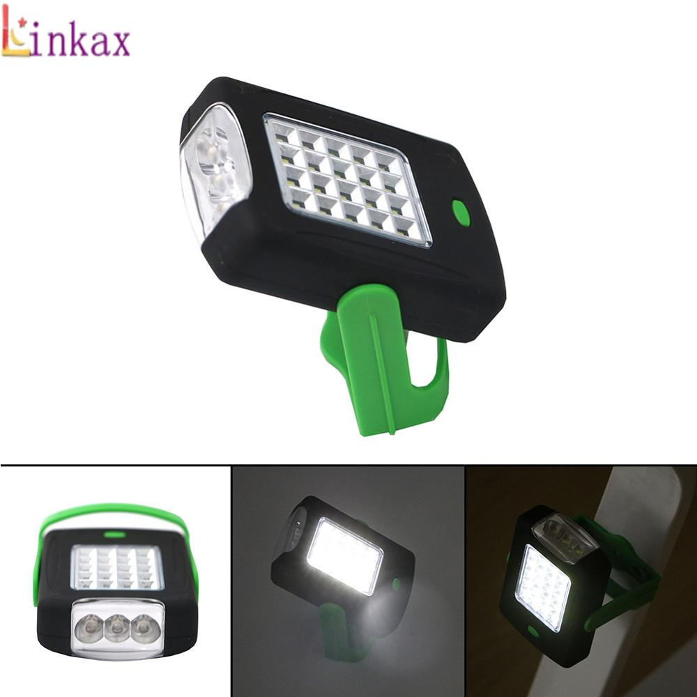Super Bright 23 LED Magnetic Work Light Flashlight Pocket Lamp Linternas With Folding Hanging Hook For Outdoors Lighting