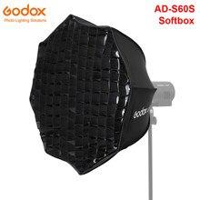 Godox – boîte à lumière parabolique en argent, 60cm, avec grille en nid d'abeille, boîte à lumière pour AD300PRO ML60, AD-S60S