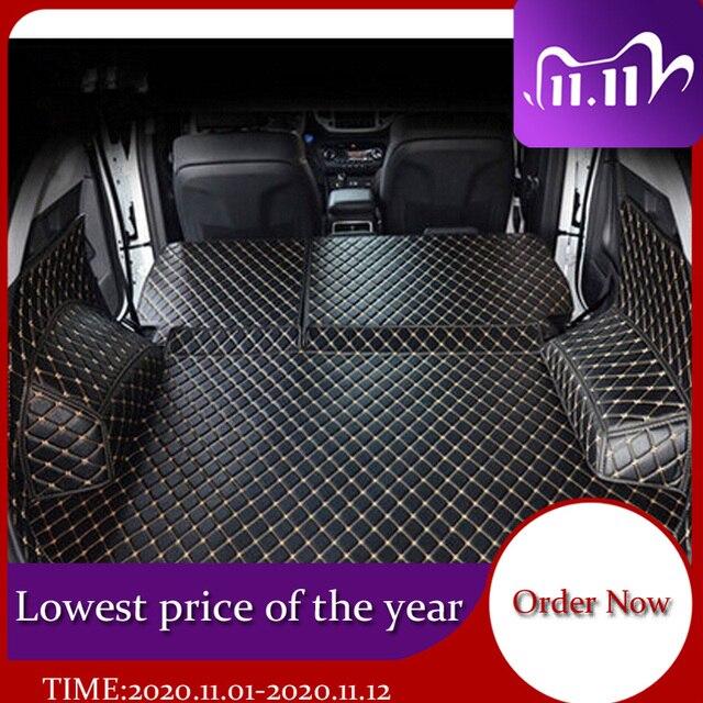 Hyundai Tucson 2017 방수 부츠 카펫 용 고품질 풀 트렁크 매트 Tucson 2016 용 카고 라이너 매트