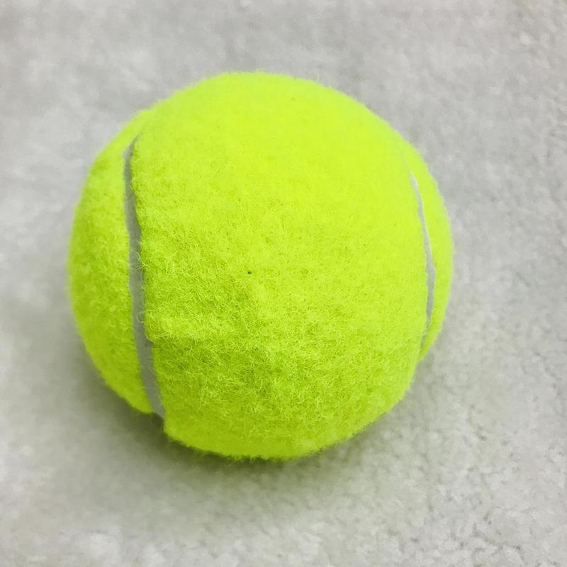 1Pcs High Resilience Rubber Tennis Ball Professional Durable Tennis Practice Ball for School Club Competition Training Exercises