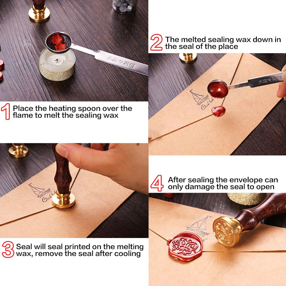 100Pcs set Multicolor Stamps For Wedding Invitation Envelopes Wax Seal Stamp Retro Sealing Wax Beads DIY Envelope Decor in Stamps from Home Garden