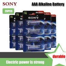 20 adet orijinal Sony 1.5V AAA alkalin pil LR03 AM4 elektrikli diş fırçası için oyuncak el feneri fare saat kuru birincil pil