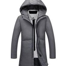 Fashion winter long coat men's waterproof brand clothing men's cotton coat autumn quality black coat men's coat